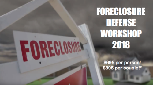 Foreclosure Defense Workshop 2018